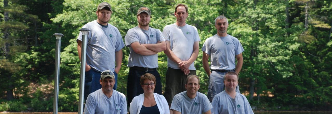Staff photo of the entire crew from The Breathable Home, offering home energy upgrades in central Maine